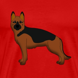 German Shepherd Dog forward T-skjorter - Premium T-skjorte for menn