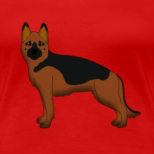 German Shepherd Dog forward T-shirts - Vrouwen Premium T-shirt