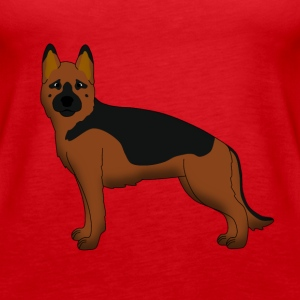 German Shepherd Dog forward Toppe - Dame Premium tanktop