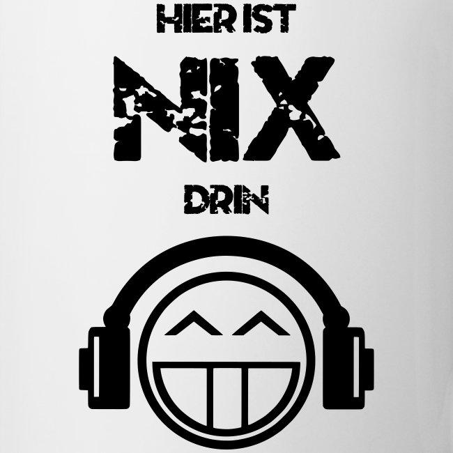 Die offizielle Friedrich Nix Tasse in weiß - Hier ist Nix drin!