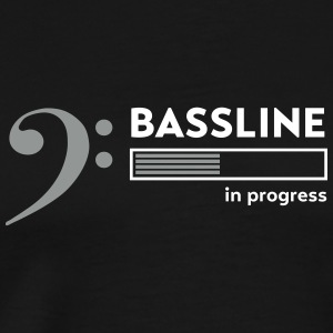 Bassline in progress T-Shirts - Men's Premium T-Shirt