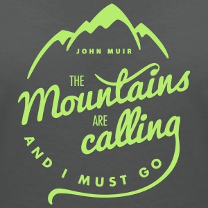 They Mountains Are Calling - Frauen T-Shirt mit V-Ausschnitt