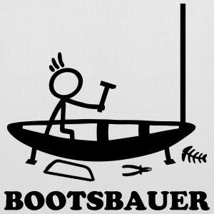 Boatbuilder - stick figure Bags & Backpacks - Tote Bag
