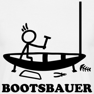 Boatbuilder - stick figure T-Shirts - Men's T-Shirt