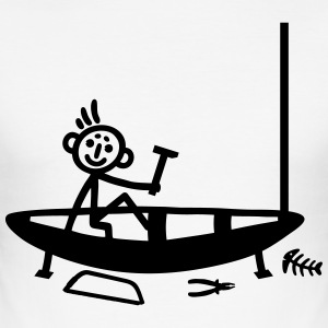 Boat building - stick figure T-Shirts - Men's Slim Fit T-Shirt