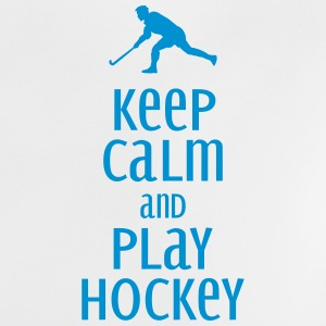 keep calm and play hockey Babytröjor - Baby-T-shirt