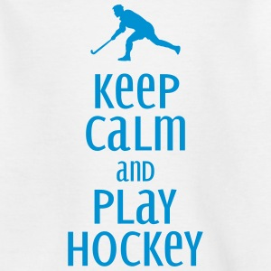 keep calm and play hockey Camisetas - Camiseta adolescente