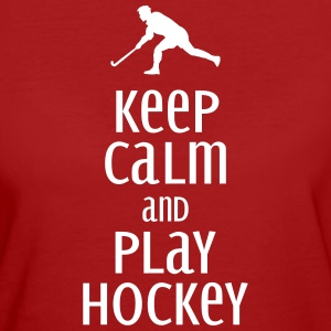 keep calm and play hockey T-skjorter - Økologisk T-skjorte for kvinner