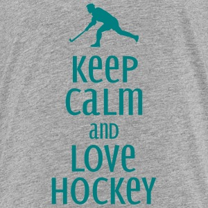 keep calm and love hockey Shirts - Teenage Premium T-Shirt