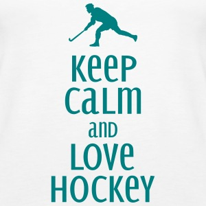 keep calm and love hockey Tops - Frauen Premium Tank Top