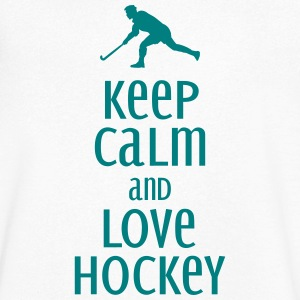 keep calm and love hockey Tee shirts - T-shirt Homme col V