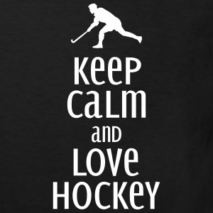 keep calm and love hockey Shirts - Kinderen Bio-T-shirt