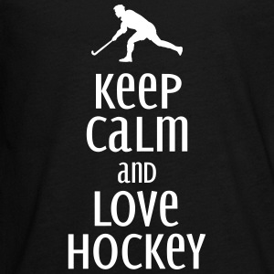 keep calm and love hockey Langarmede T-skjorter - Premium langermet T-skjorte for tenåringer