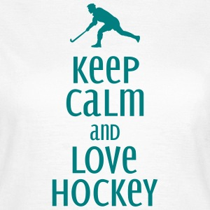 keep calm and love hockey T-Shirts - Women's T-Shirt