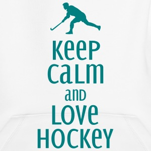 keep calm and love hockey Bluzy - Bluza dziecięca z kapturem Premium