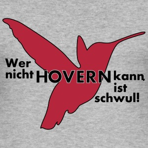 hover_bird_vec_3 de T-Shirts - Männer Slim Fit T-Shirt