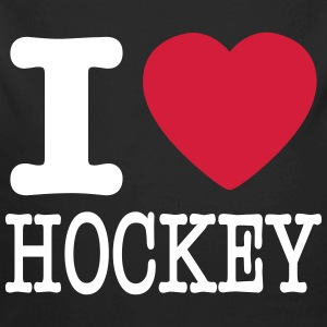 i love hockey / I heart hockey Baby Bodys - Baby Bio-Langarm-Body