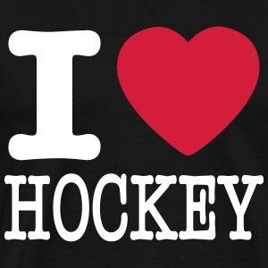i love hockey / I heart hockey T-shirts - Mannen Premium T-shirt