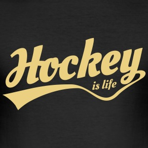 hockey is life 5 T-skjorter - Slim Fit T-skjorte for menn