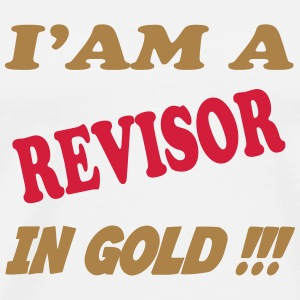 I'am a revisor in gold !!! T-shirts - Herre premium T-shirt