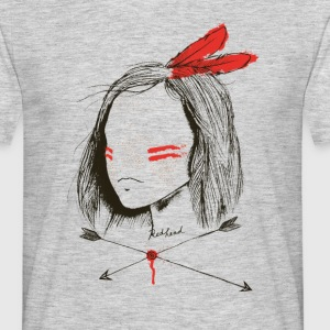Heather grey red head T-Shirts - Men's T-Shirt