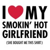 I Love My Smokin' Hot Girlfriend (She Bought...) T-shirts - Mannen Premium T-shirt