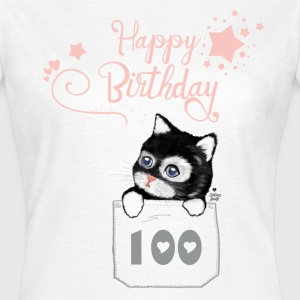 Happy Birthday with kitten baby T-Shirts - Women's T-Shirt