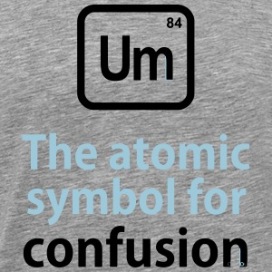 THE CHEMICAL ELEMENT OF CONFUSION T-shirts - Premium-T-shirt herr