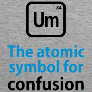 THE CHEMICAL ELEMENT OF CONFUSION Tank Tops - Men's Premium Tank Top