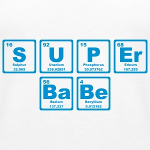 SUPERBABE PERIODIC TABLE OF THE ELEMENTS Tops - Vrouwen Premium tank top