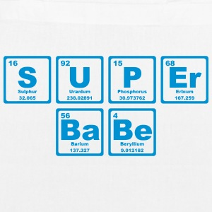 SUPERBABE PERIODIC TABLE OF THE ELEMENTS Bags & Backpacks - EarthPositive Tote Bag