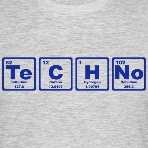TECHNO PERIODIC TABLE T-shirts - Herre-T-shirt