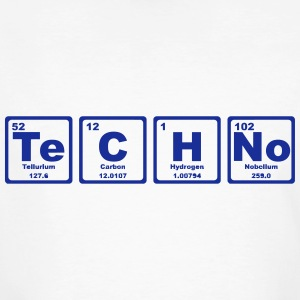 TECHNO PERIODIC TABLE Camisetas - Camiseta ecológica hombre