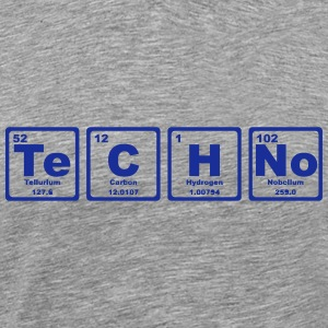 TECHNO PERIODIC TABLE T-shirts - Mannen Premium T-shirt