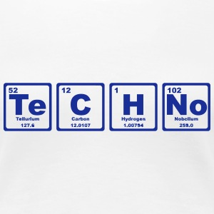 TECHNO PERIODIC TABLE Camisetas - Camiseta premium mujer