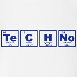 TECHNO PERIODIC TABLE Shirts - Organic Short-sleeved Baby Bodysuit