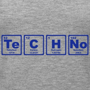 TECHNO PERIODIC TABLE Tops - Women's Premium Tank Top