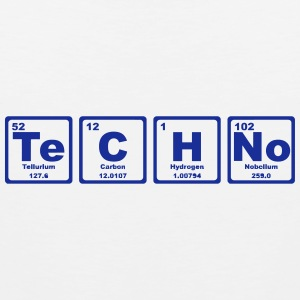TECHNO PERIODIC TABLE Tank Tops - Men's Premium Tank Top