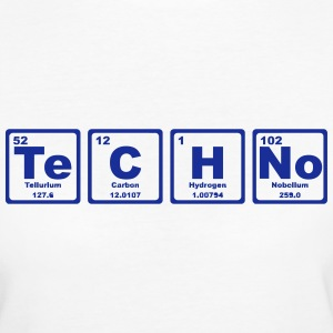 TECHNO PERIODIC TABLE Tee shirts - T-shirt Bio Femme