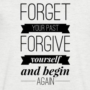 Forget your past Forgive yourself and begin again Koszulki - Koszulka męska Canvas z dekoltem w serek