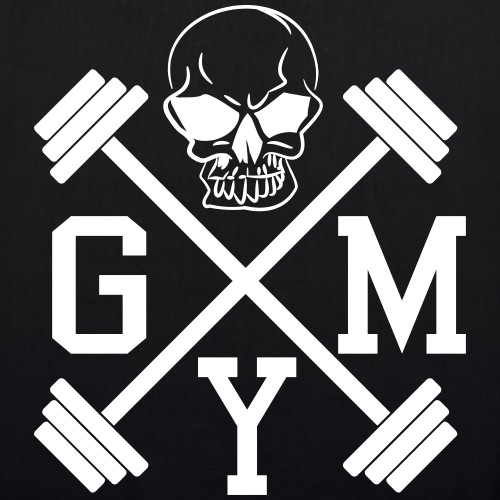 GYM Hanteln Bodybuilding Totenkopf Skull 1c