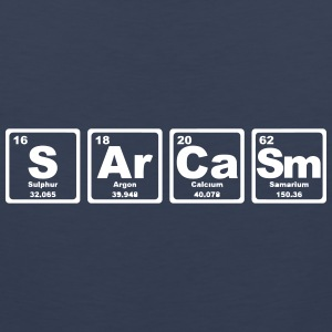 SARCASM PERIODIC TABLE Tank Tops - Tank top premium hombre