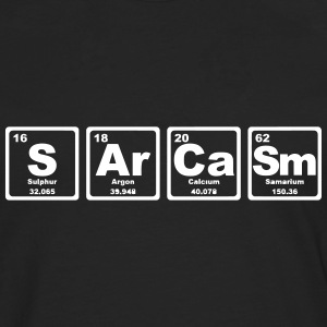 SARCASM PERIODIC TABLE Manga larga - Camiseta de manga larga premium hombre
