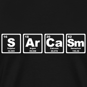 SARCASM PERIODIC TABLE T-shirts - Herre premium T-shirt