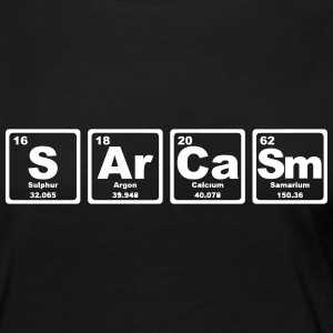 SARCASM PERIODIC TABLE Long Sleeve Shirts - Women's Premium Longsleeve Shirt