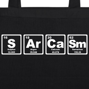 SARCASM PERIODIC TABLE Bags & Backpacks - EarthPositive Tote Bag