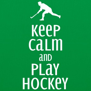 keep calm and play hockey Bags & Backpacks - Tote Bag