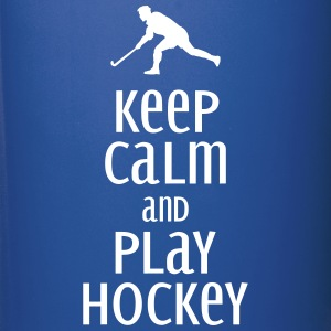 keep calm and play hockey Tassen & Zubehör - Tasse einfarbig