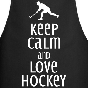 keep calm and love hockey Delantales - Delantal de cocina