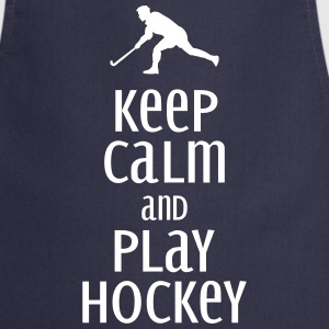 keep calm and play hockey  Aprons - Cooking Apron